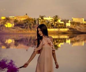 girl, lake, and photo image