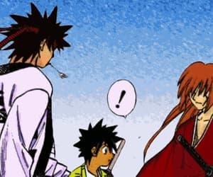 anime, samurai x, and friends image