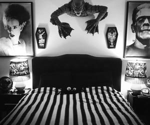 aesthetic, bedroom, and black and white image