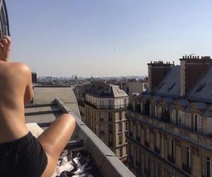 aesthetic, buildings, and girl image
