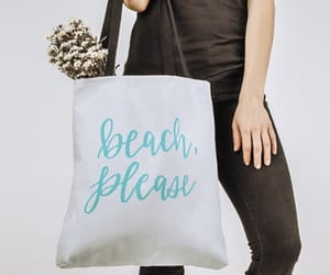 beach, casual, and canvas tote image