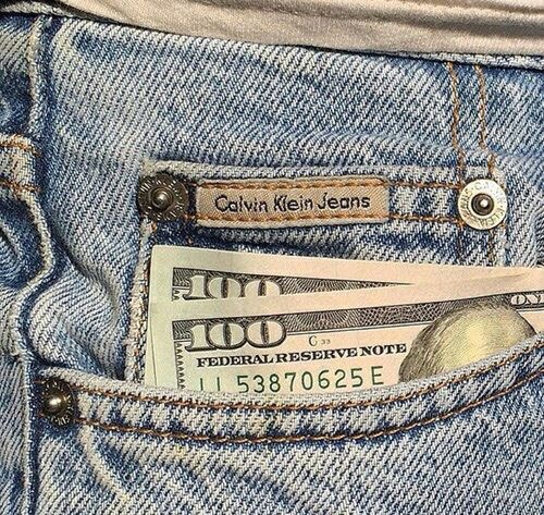 aesthetic, dollars, and jeans image