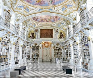 library, architecture, and austria image