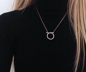 black shirt, necklase, and fashion image