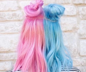 hair, beautiful, and blue image