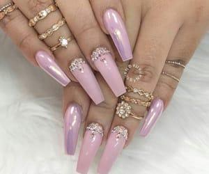 nails, uñas, and unhas image