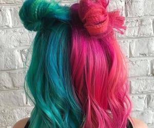 alternative, blue hair, and green hair image