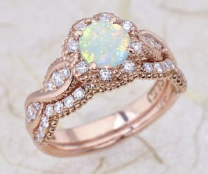etsy, opal, and bridal set image