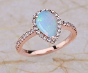 etsy, opal, and rose gold engagement image