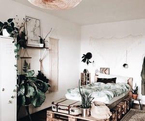 bedroom, lights, and decor image