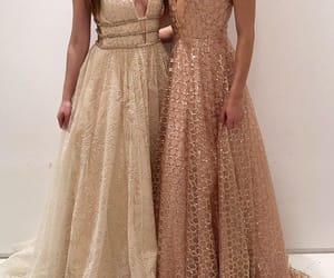 chic, dresses, and gold image