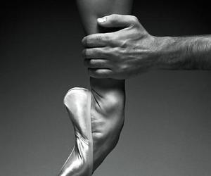 ballet, ballet shoes, and black and white image