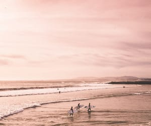 ocean, aesthetic, and pink image