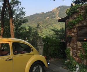 car, yellow, and nature image
