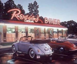 vintage, car, and diner image