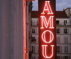 love, amour, and neon image