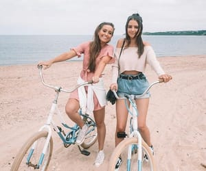 fashion, bike, and friendship image