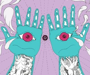 art, hands, and eyes image