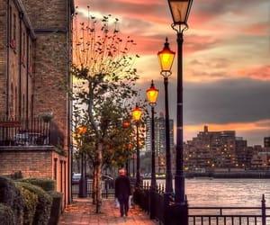 london, sunset, and city image