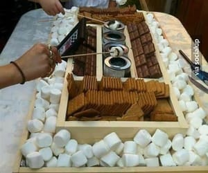 chocolate, smores, and party image