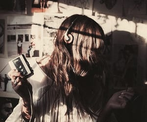 girl, music, and mix image