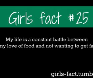 girl, food, and girls fact image