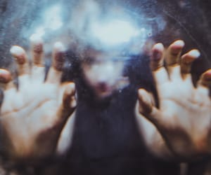 blur, analogic, and hands image