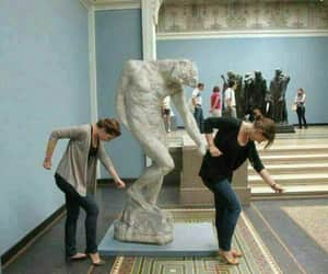 funny, statue, and beyoncé image