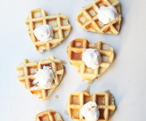 waffles, food, and hearts image