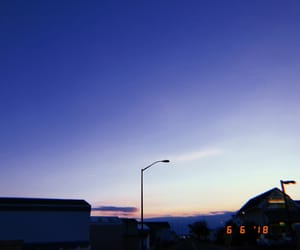 aesthetic, blue, and sunset image