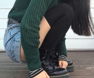 boots, shorts, and grunge image