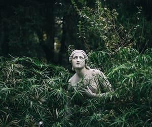 green, nature, and statue image