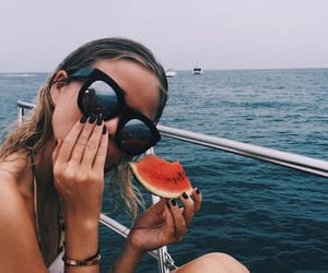 beach, sunglasses, and blonde image