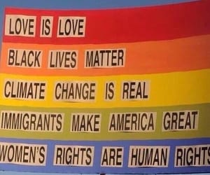 climate change, feminism, and lgbt image