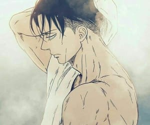 damn, attack on titan, and hot levi image