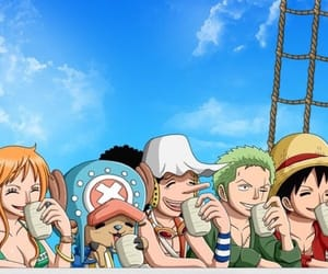 anime, usopp, and nico robin image