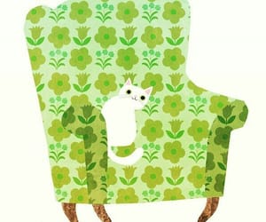 armchair and cat image