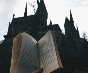 book and hogwarts image