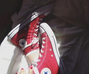 all star, blue jeans, and chuck taylor image