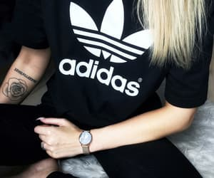 adidas, fashionable, and black and white image