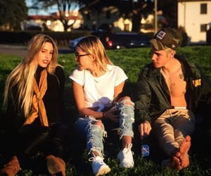 justin bieber, hailey baldwin, and lele pons image