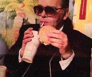 fashion, karl lagerfeld, and burger image