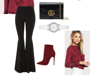 fashion, Polyvore, and red image