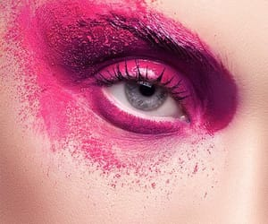 eye shadow, paint, and body art image