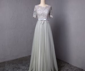 bow, grey, and prom dresses image