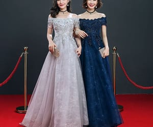 evening dress, lace, and long dress image