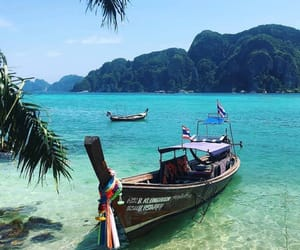 asia, beautiful scenery, and boat image