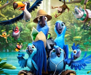 blue, family, and lovebirds image