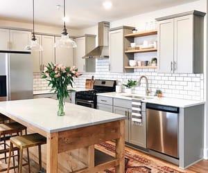 design, kitchen island, and kitchen image