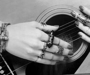 guitar, love, and fingers image